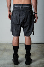 Load image into Gallery viewer, Thom Krom MST172 Button Up Side Shorts Black Oil