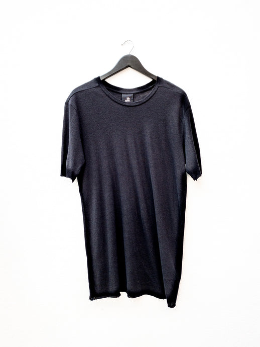Thom Krom MTS426 Linen Blend T-Shirt Black