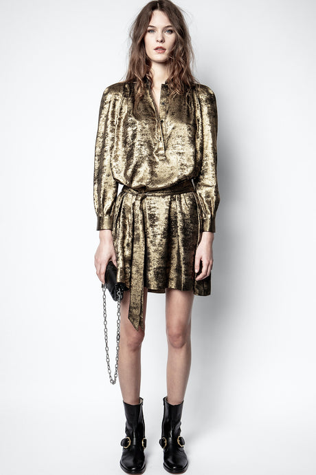 Zadig et Voltaire Retouch Gold Dress