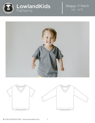 Baggy V Neck Tee - Lowland Kids