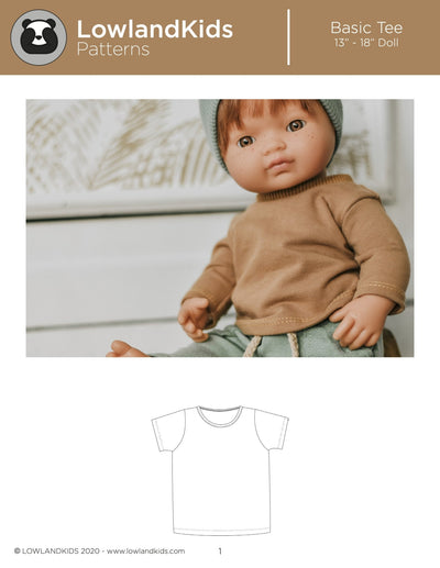 "Basic Tee 13"" - 18"" Doll - Lowland Kids"
