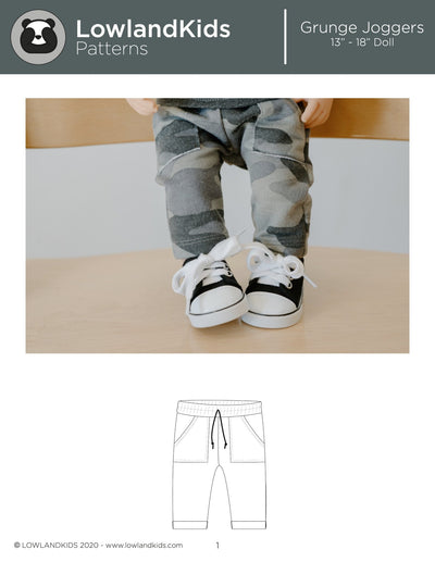 "Grunge Joggers 13"" - 18"" Doll - Lowland Kids"