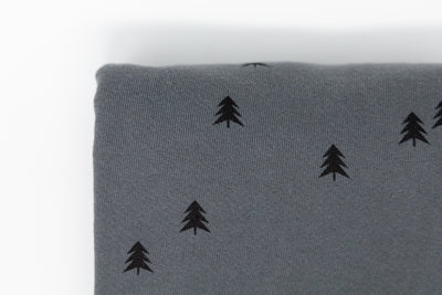 Spruce Trees on French Terry (1/2 yd) - Lowland Kids