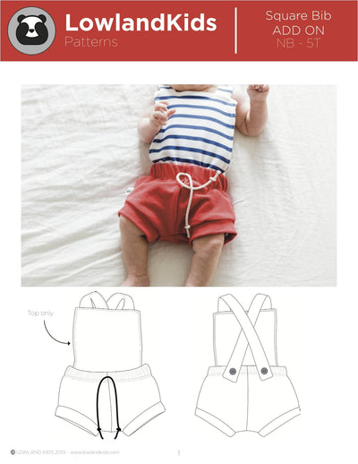 Square Bib Add On - Lowland Kids