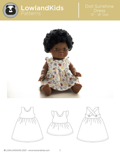 "Sunshine Dress 13"" - 18"" Doll - Lowland Kids"
