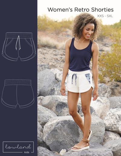 Women's Retro Shorties - Lowland Kids