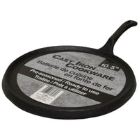 "Griddle 10.5"" Cast Iron Round Pre-Seasoned - BayShoomar"