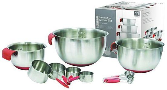 Kitchen Set Stainless Steel 11 pcs - BayShoomar