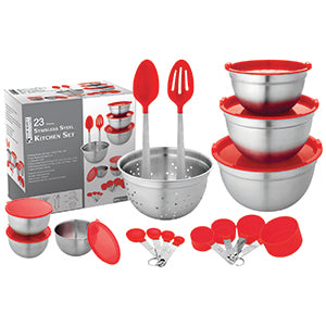 Kitchen Set Stainless Steel 23 pcs - BayShoomar
