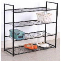 4 Tier Wider Metal Shoe Rack - BayShoomar