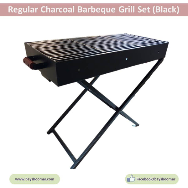 "Heavy Duty Charcoal Portable BBQ Grill - 18"" / 24"" / 32"" - BayShoomar"