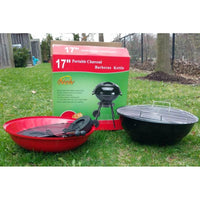 "17"" Portable Charcoal Kettle Grill - BayShoomar"