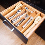 Cutlery Tray | Expandable | Bamboo | Adjustable Drawer Divider