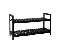 2 Tier Shoe Rack [Black] - BayShoomar