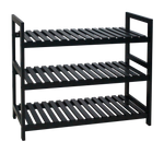 3 Tier MDF Shoe Rack Black - BayShoomar