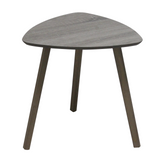 MDF Triangle Side Table [ Grey | White ] - BayShoomar