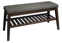 Cushioned Bench with Storage Large [Grey | Black] - BayShoomar