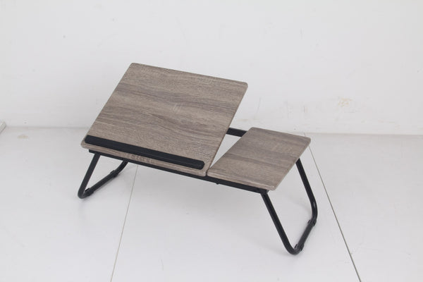 Adjustable Laptop Table Wood Grey - BayShoomar