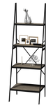 4 Tier Loft Ladder Shelf Grey MDF - BayShoomar