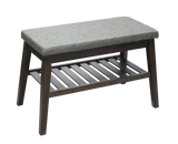 Cushioned Bench with Storage [Grey | Black] - BayShoomar