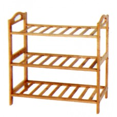 3 Tier Bamboo Shoe Rack - BayShoomar