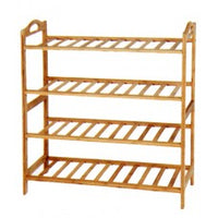 4 Tier Bamboo Shoe Rack - BayShoomar