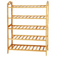 5 Tier Bamboo Shoe Rack - BayShoomar