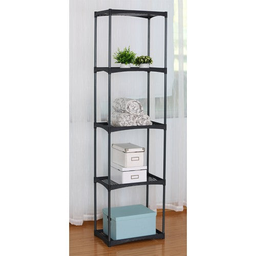 5 Level Rack, Plastic Shelf with Metal Frame - BayShoomar