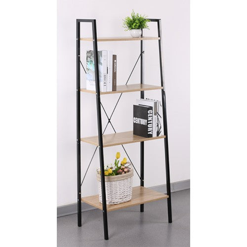 4 Level Rack, Wood Shelf with Metal Frame - BayShoomar
