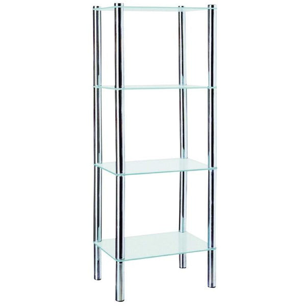4 Tier Rectangular Frosted Glass Shelves - BayShoomar