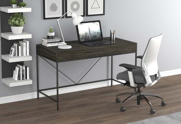"Computer Desk-48"" Grey Wood 