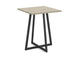 End Table/ Night Table/ Accent Table Dark Taupe Black Metal