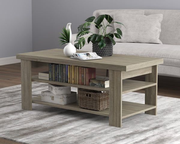 "Coffee Table 41.5"" / 3 Shelves /"