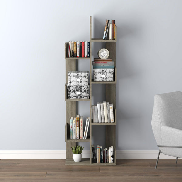 Book Shelf | 8 Staggered Shelves