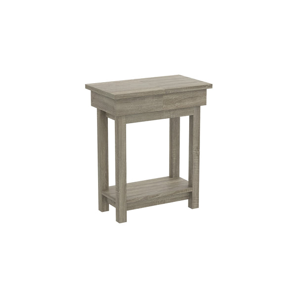 Accent Table with Open Top Drawer Available in Two Colors