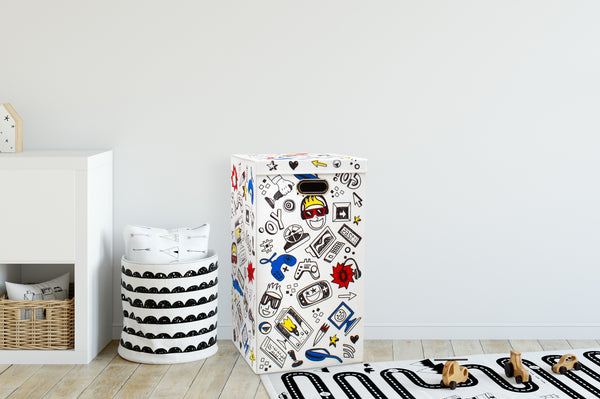 Laundry Hamper Kids Printed Design