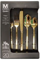 Flatware 20 pcs Stainless Steel 18/10 Gold