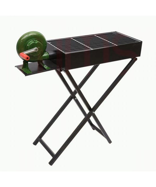 BBQ Grill with stand and Blower 80 cms x 25 cms - BayShoomar