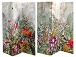 Double Sided 3 Panel Canvas Screen Garden of Eden - BayShoomar