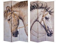 Double Sided 3 Panel Canvas Screen Majestic Horses - BayShoomar