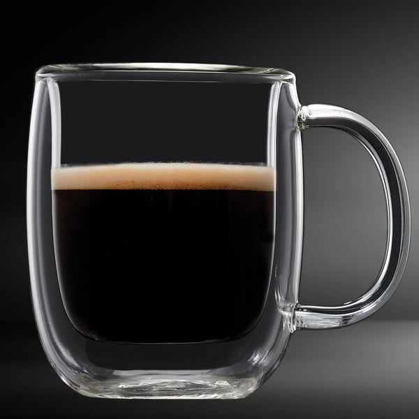 Espresso Glass Double Wall Mug 4PC  80ML Barista