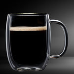 Americano Glass Double Wall Mug 4PC 350ML Barista