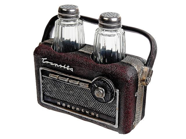 Vintage Salt & Pepper Shaker Polyresin Radio