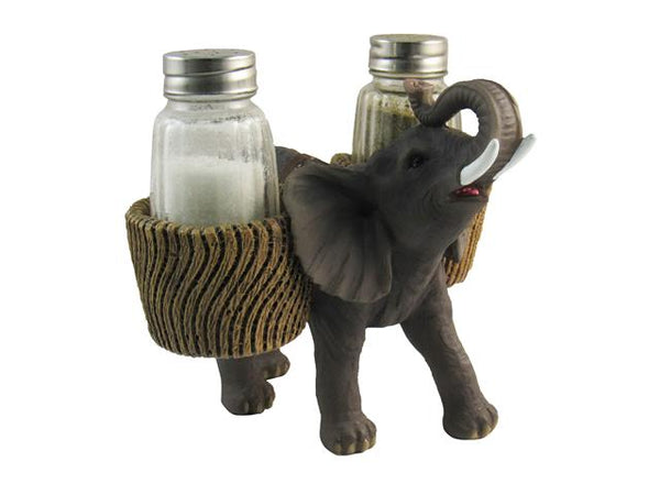Salt & Pepper Shaker Polyresin Savannah Elephant