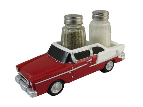 Salt & Pepper Shaker Polyresin Cruising Car