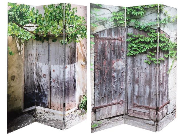 Double Sided 3 Panel Canvas Screen Behind the Doors - BayShoomar