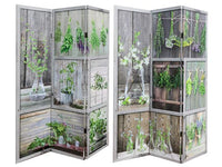 Double Sided 3 Panel Canvas Screen Herb Garden - BayShoomar