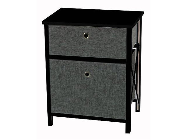 Cabinet with 2 drawers [Black | Brown | White] - BayShoomar