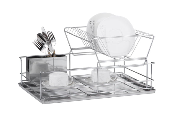 Dish Rack 2 Tier with Chrome Tray - BayShoomar