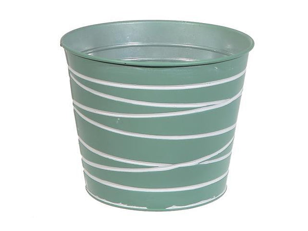 METAL ROUND PLANTER (MINT GREEN) - BayShoomar
